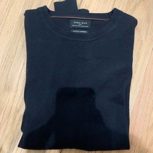 Zara cotton cashmere black/ very dark navy